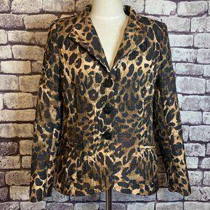 Lafayette 148 Animal Print Jacket Size 10